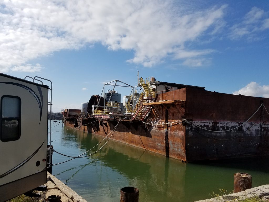 Marine industrial demolition
