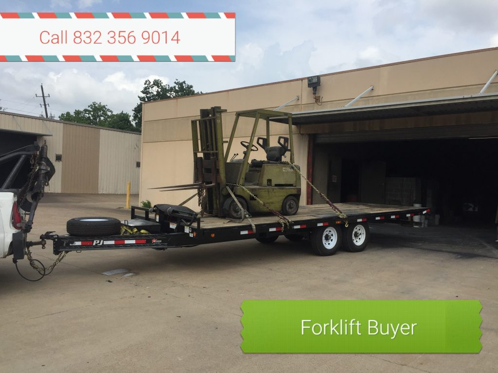 Salvage Forklift Buyer Houston TX