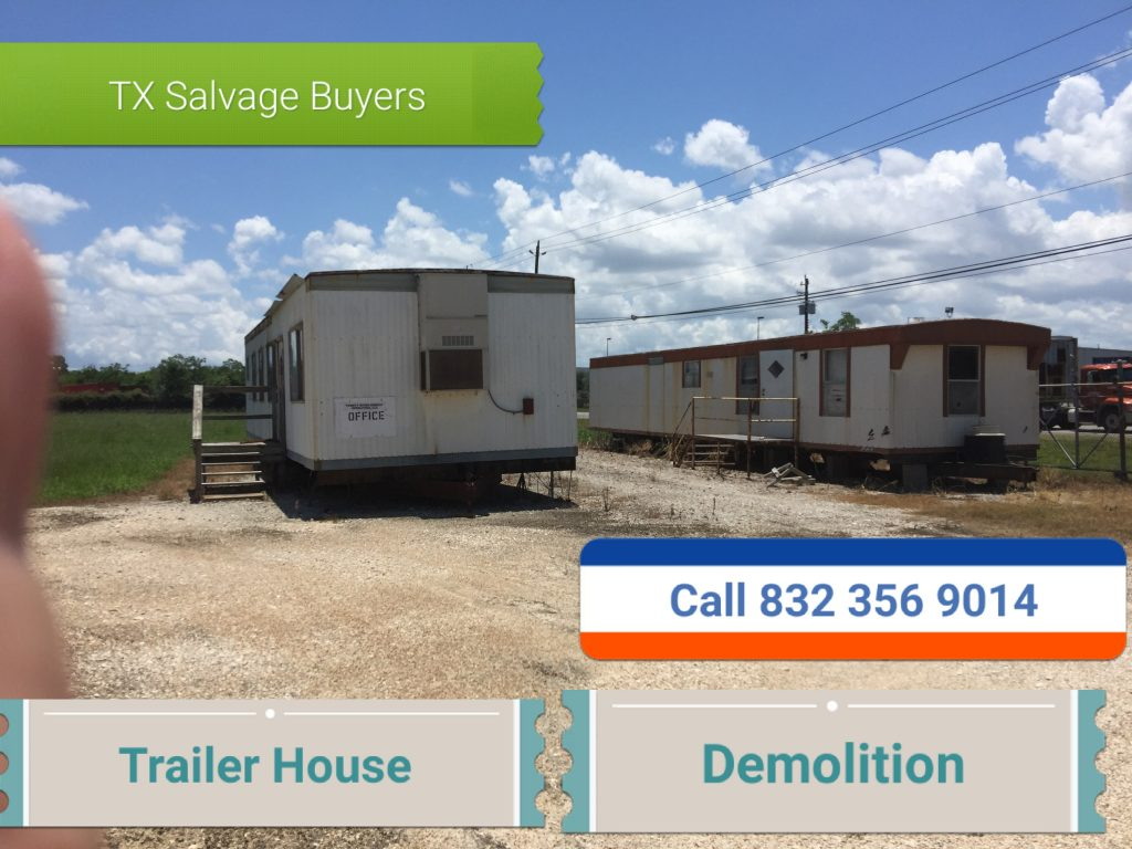 Trailer House demolition Houston TX