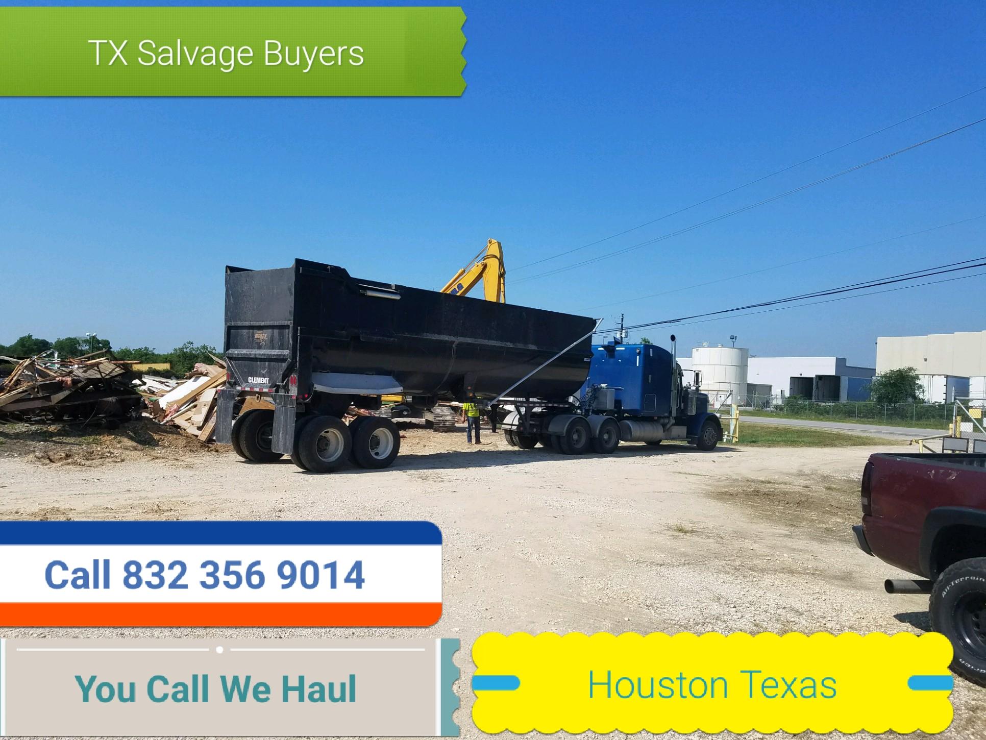 Scrap metal pickup Houston TX - You Call we haul.