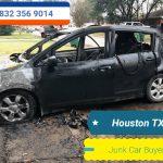 Junk car Fire damage