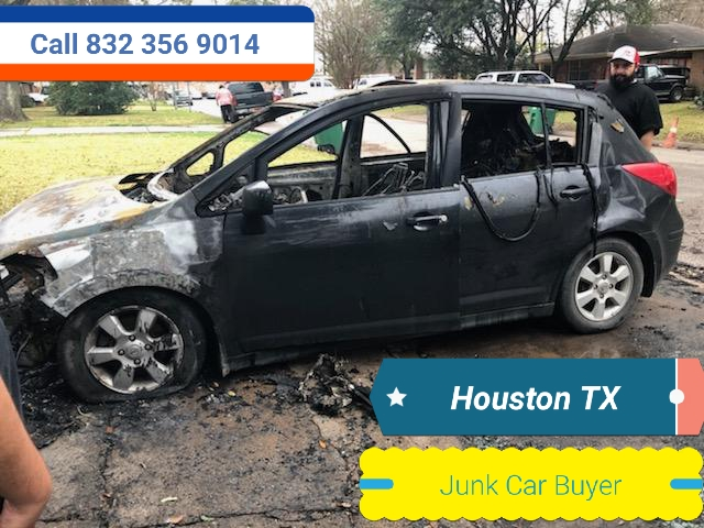 Junk car Fire damage