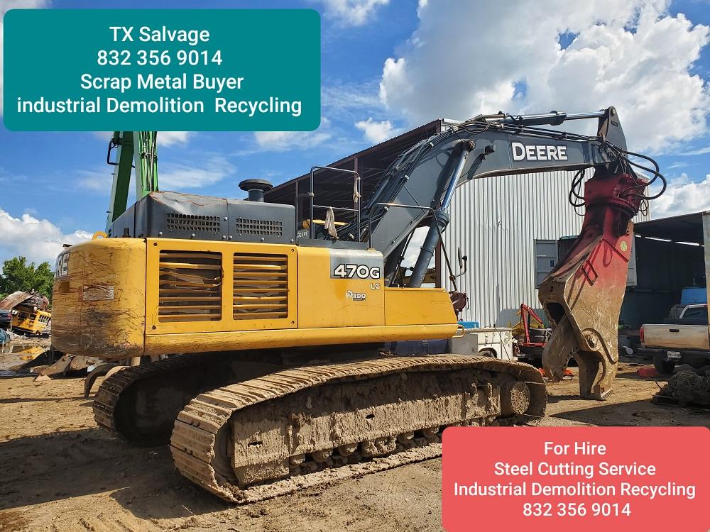 oil field salvage recycling demolition scrap metal buyer