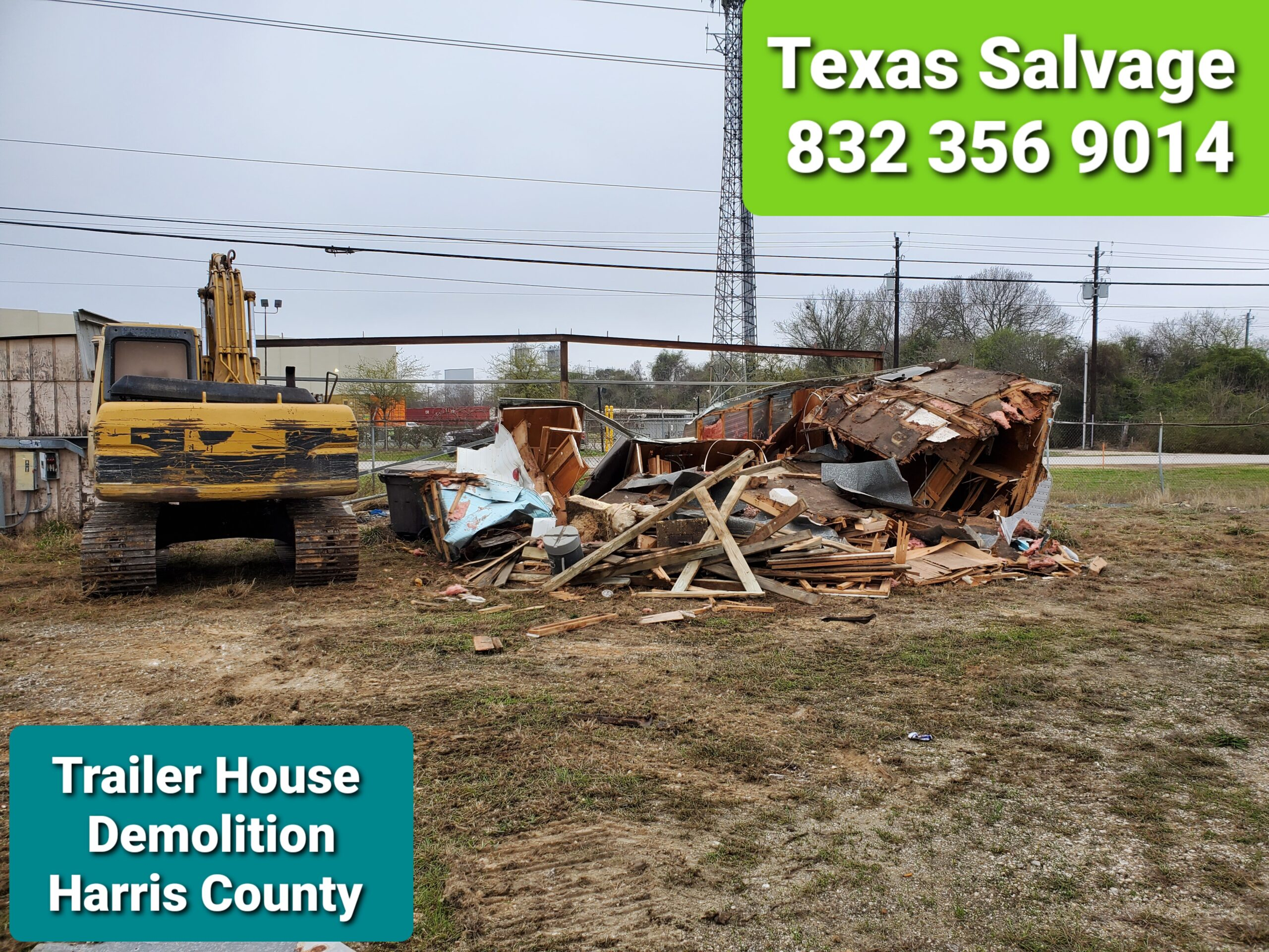Trailer house demolition