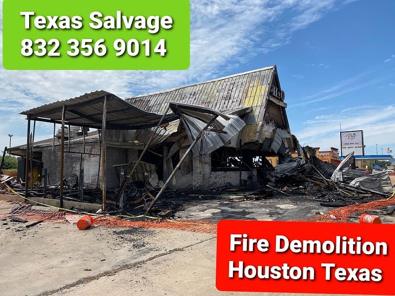 fire demolition Pasadena TX